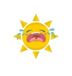 Cute suns tears vector