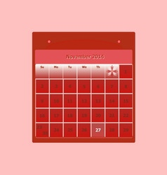 Design schedule monthly november 2014 calendar vector