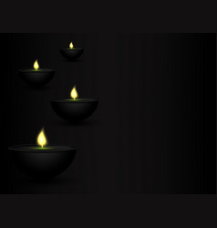 eps10 soft candles design against a dark vector image