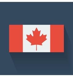 Flat flag canada vector