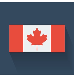 Flat flag of Canada vector