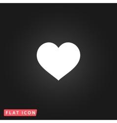 Flat heart icon vector