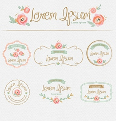 Floral brand and identity design element vector image