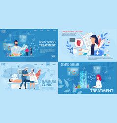 genetic disease therapy and transplantation set vector image