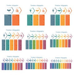 horizontal color arrows templates infographics vector image