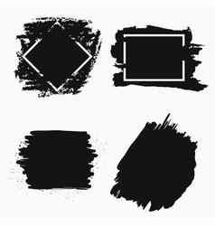 ink brush banner vector image