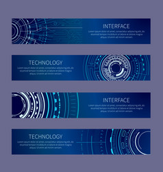 interface and technology set vector image