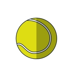 Isolated ball of tennis design vector image