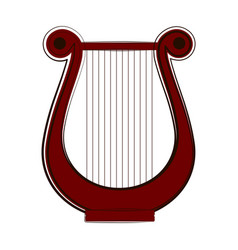 isolated lyre sketch musical instrument vector image