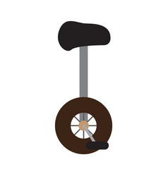isolated monocycle icon vector image