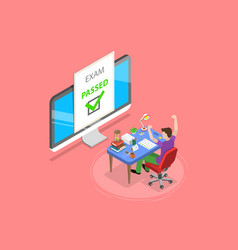 Isometric flat concept passed online vector