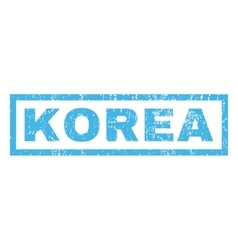 Korea Rubber Stamp vector image