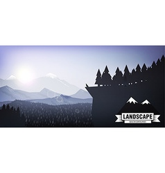 landscape mountain background eps 10 vector image