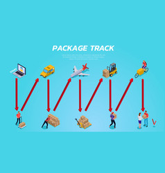 logistic delivery isometric vector image