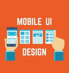 mobile application interface concept in flat style vector image