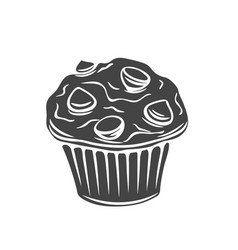 Muffin glyph icons vector