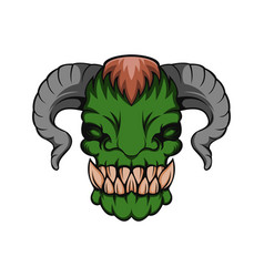 orc monster vector image