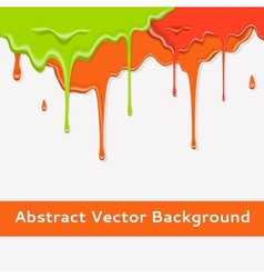 Paint colorful dripping background in three color vector