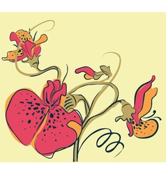 Pea flowers vector