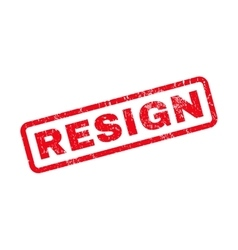 Resign Rubber Stamp vector image