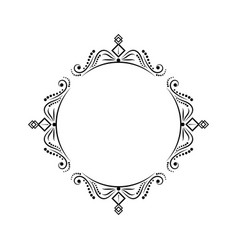 round classic vintage black frame vector image