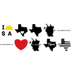 San antonio texas us map vector