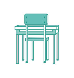 School table and chair design vector