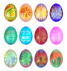 Set of colorful easter egg vector image