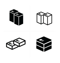 Set of parcel box icons vector