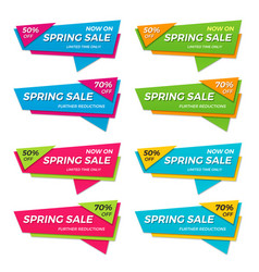 set spring sale labels price tags banners vector image