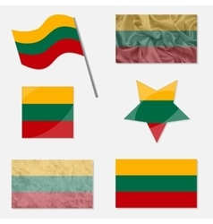 Set with flags of lithuania vector