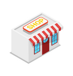 shop building isometric 3d icon vector image