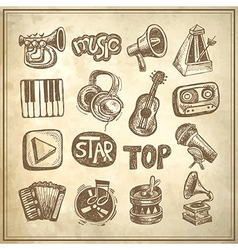 Sketch music icon element vector