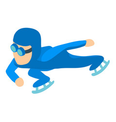 speed skater icon isometric 3d style vector image