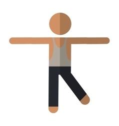 sportman artistic gymnastics vector image