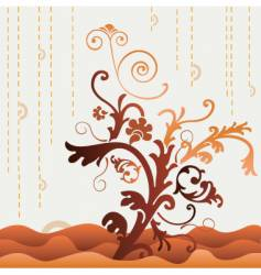 stylized tree graphic vector image