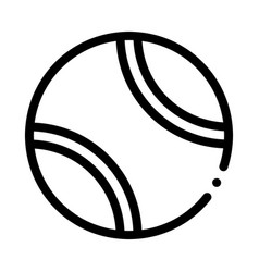 tennis play ball icon outline vector image