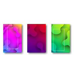 three colorful backgrounds with abstract pattern vector image