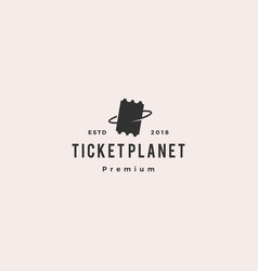 ticket planet logo icon vector image