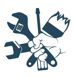 tool in hand vector image