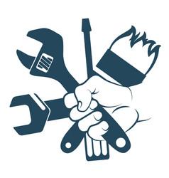 Tool in hand vector
