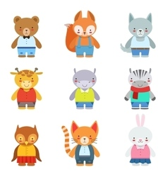 Toy Kids Animals In Clothes vector
