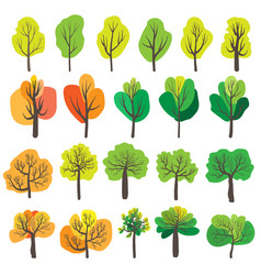 Trees isolated on white background vector