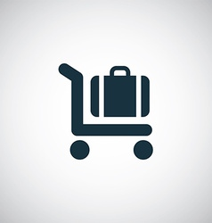 trolley luggage icon vector image