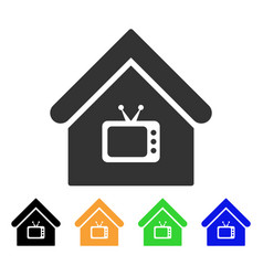 tv office icon vector image