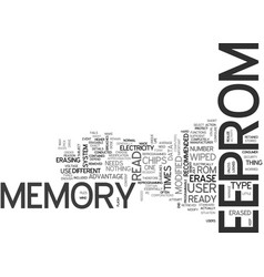 What is eeprom text word cloud concept vector