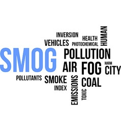 Word cloud smog vector