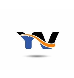YV company linked letter logo vector
