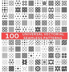 100 Universal different seamless patterns vector image vector image