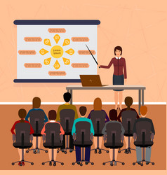 business people seminar group office employee on vector image vector image